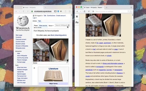 Reader View के लिए स्क्रीनशॉट