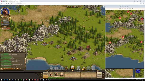 Здымак экрану для TSOW - The Settlers Online Widget