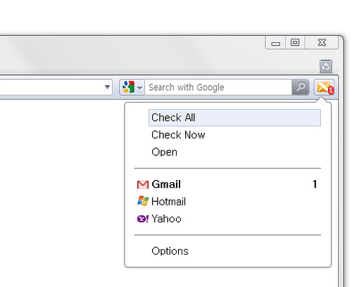 Screenshot di X-notifier (Gmail, Hotmail, Yahoo, AOL ...)