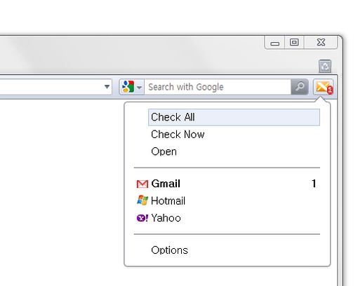 Screenshot for X-notifier (Gmail, Hotmail, Yahoo, AOL ...)