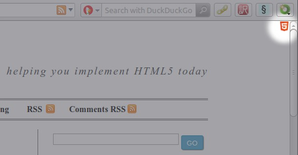 Screenshot untuk HTML5-powered