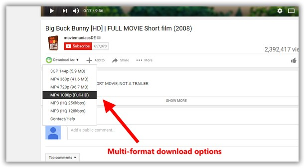 download youtube videos as mp4/flv « google chrome extensions