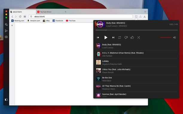 Toolbar Control for YouTube Music képernyőképe
