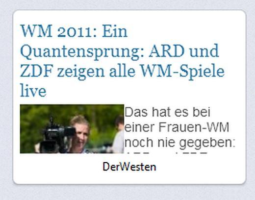 Snímka balíka Der Westen - Alle News - Textmodus