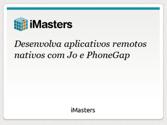 Aperçu de iMasters