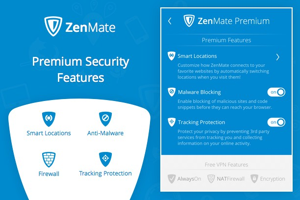 ZenMate VPN extension - Opera add-ons