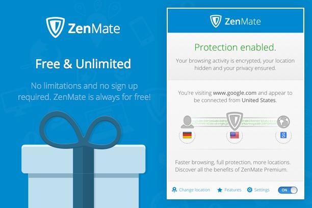 ZenMate VPN extension - Opera add-ons