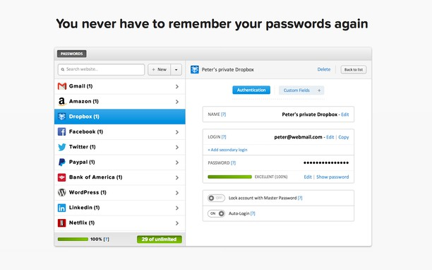 delete hp password manager