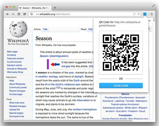 QR Codematic extension - Opera add-ons