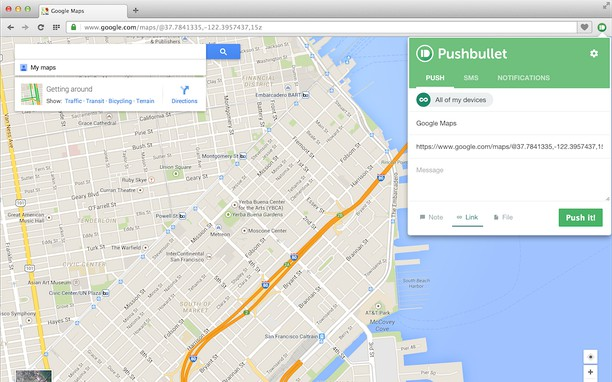 Pushbullet extension - Opera add-ons