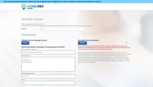 Screenshot for Homepay - automatyzacja płatności