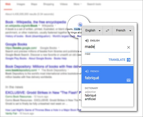 Captura de tela de Google Translate Anywhere