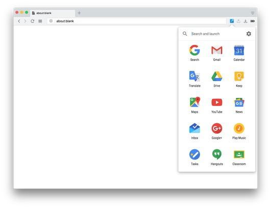 Shortcuts for Google™ 用のスクリーンショット
