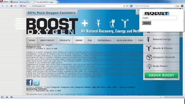 boostOxygen Search Engine extension - Opera add-ons
