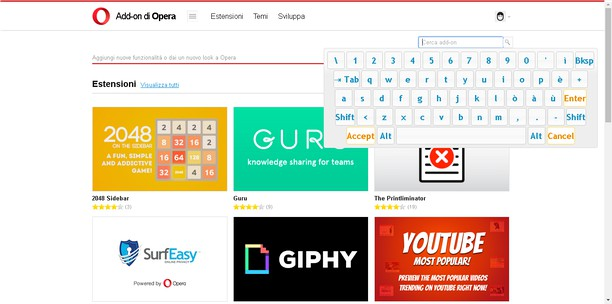 Your Virtual Keyboard extension - Opera add-ons