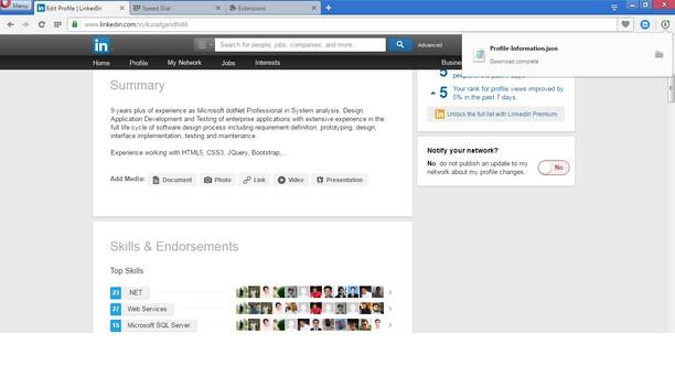 Linkedin Profile Grabber extension - Opera add-ons