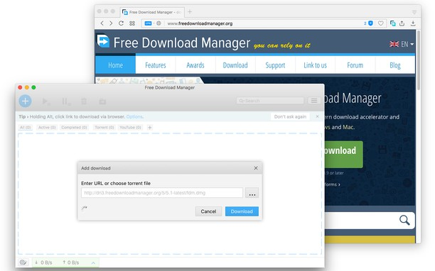 Download with Free Download Manager (FDM) 的螢幕截圖