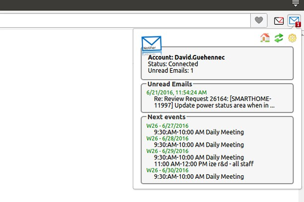 Screenshot for Office 365 Mail Notifier