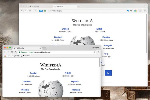 Captura de tela de Open in Google Chrome