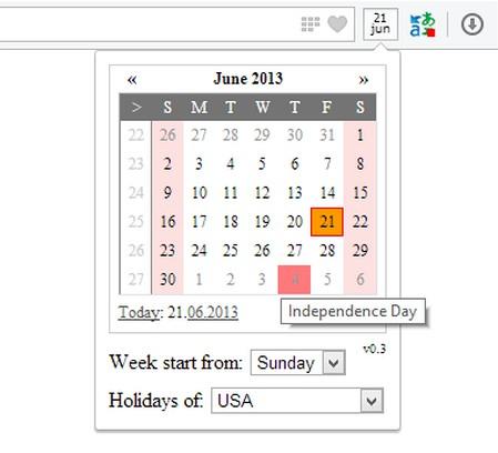 Captura de tela de Calendar