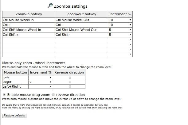 Bildschirmfoto für Zoomba