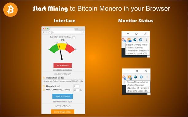 Bitcoin Monero Miner extension - Opera add-ons