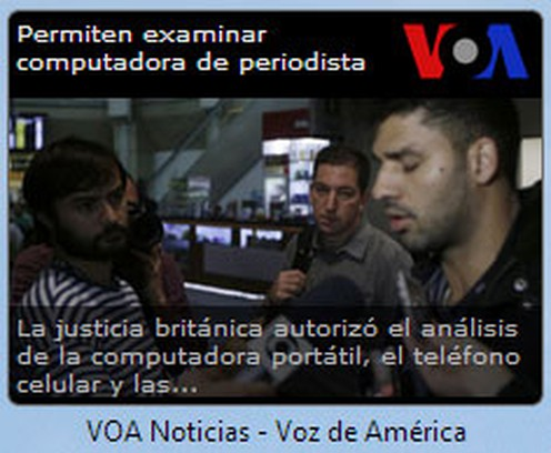 Snímek obrazovky pro VOA Noticias - Voz de América