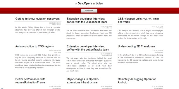 RSS Detector extension - Opera add-ons