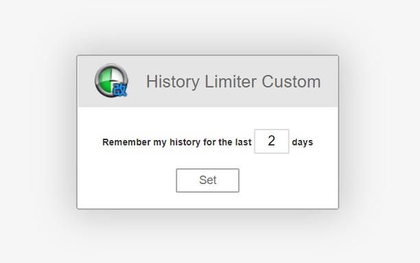 Copie d'écran pour History Limiter Custom