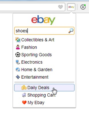 Captura de tela de Ebay Button