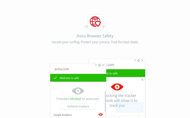 Copie d'écran pour Avira Browser Safety