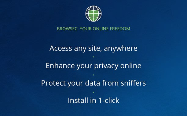 Browsec extension - Opera add-ons