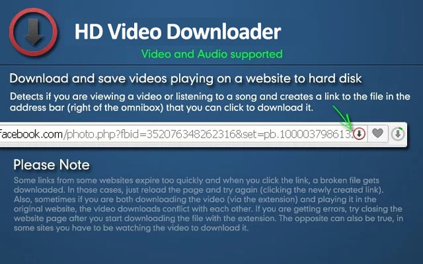 Copie d'écran pour HD Video Downloader