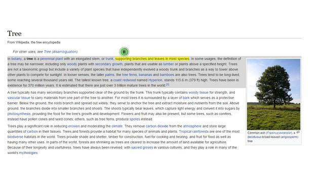 Screenshot for Text-to-Speech (Google™ & HTML5)