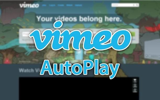 Vimeo AutoPlay 用のスクリーンショット