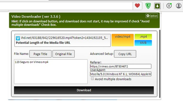 Zrzut ekranu pakietu Video Downloader Plus