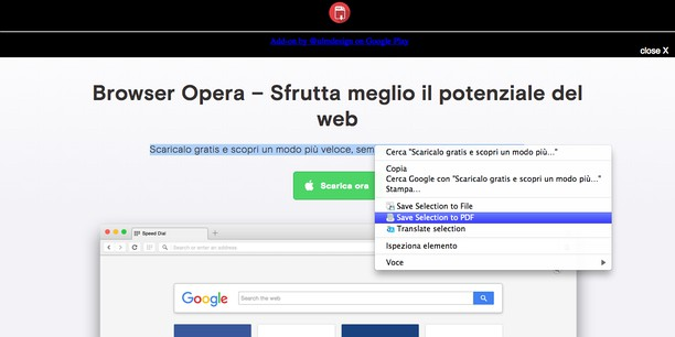 a023c0fc0d Save Text to PDF extension - Opera add-ons