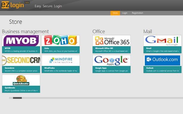 Snímek obrazovky pro EZlogin