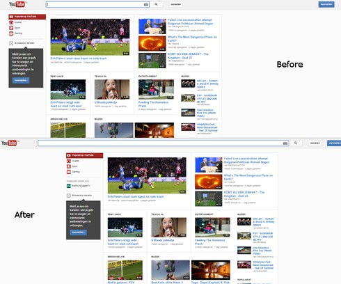 Screenshot for Center align Youtube