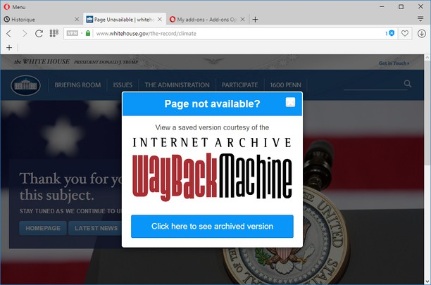 Error 404 Wayback Machine képernyőképe