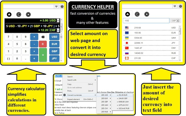Captura de pantalla para CURRENCY HELPER - helps with many currencies