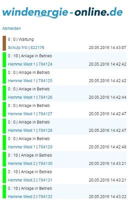 Screenshot for WEO Windenergie-Online.de