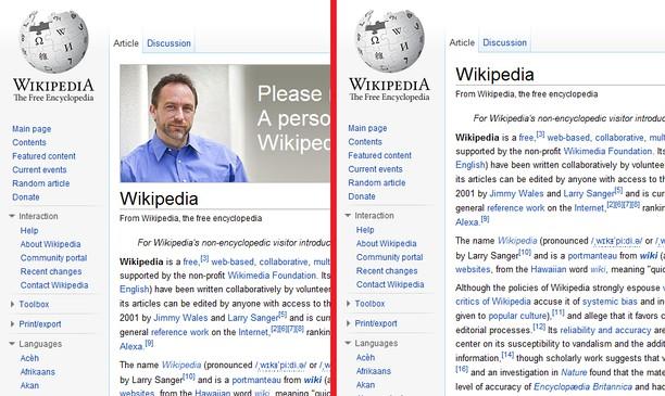 An glacadh-sgrìn airson Wikipedia Personal Appeal Hider