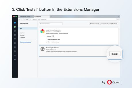Download and use Chrome extensions in Opera - Install Chrome
