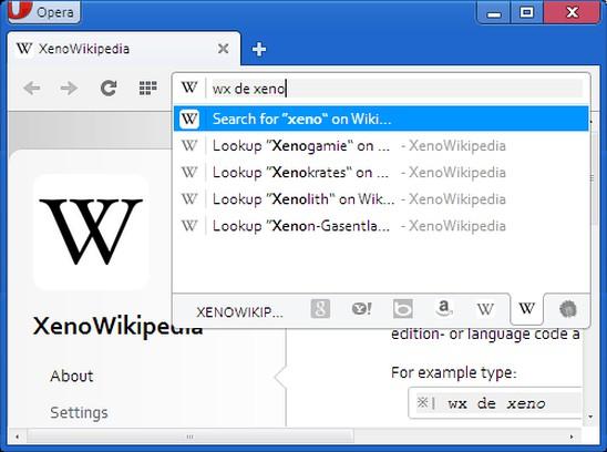 Снимок экрана для XenoWikipedia