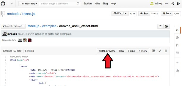 Screenshot para sa Github HTML Preview