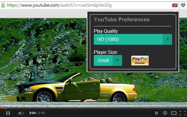 Знімок вікна YouTube High Definition