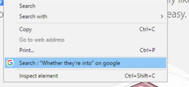 Captura de tela de Search on google