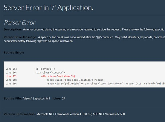 Skjermbilde for .net exception beutifier