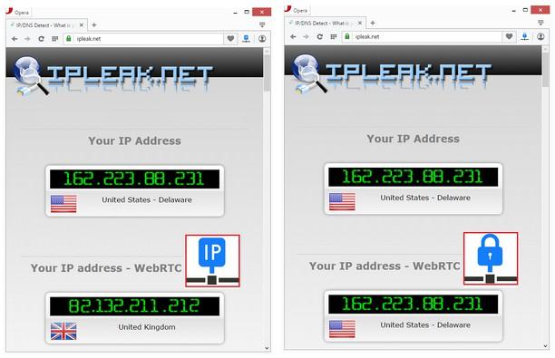 Bildschirmfoto für WebRTC Control